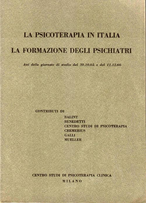 La psicoterapia in Italia. La formazione degli psichiatri
