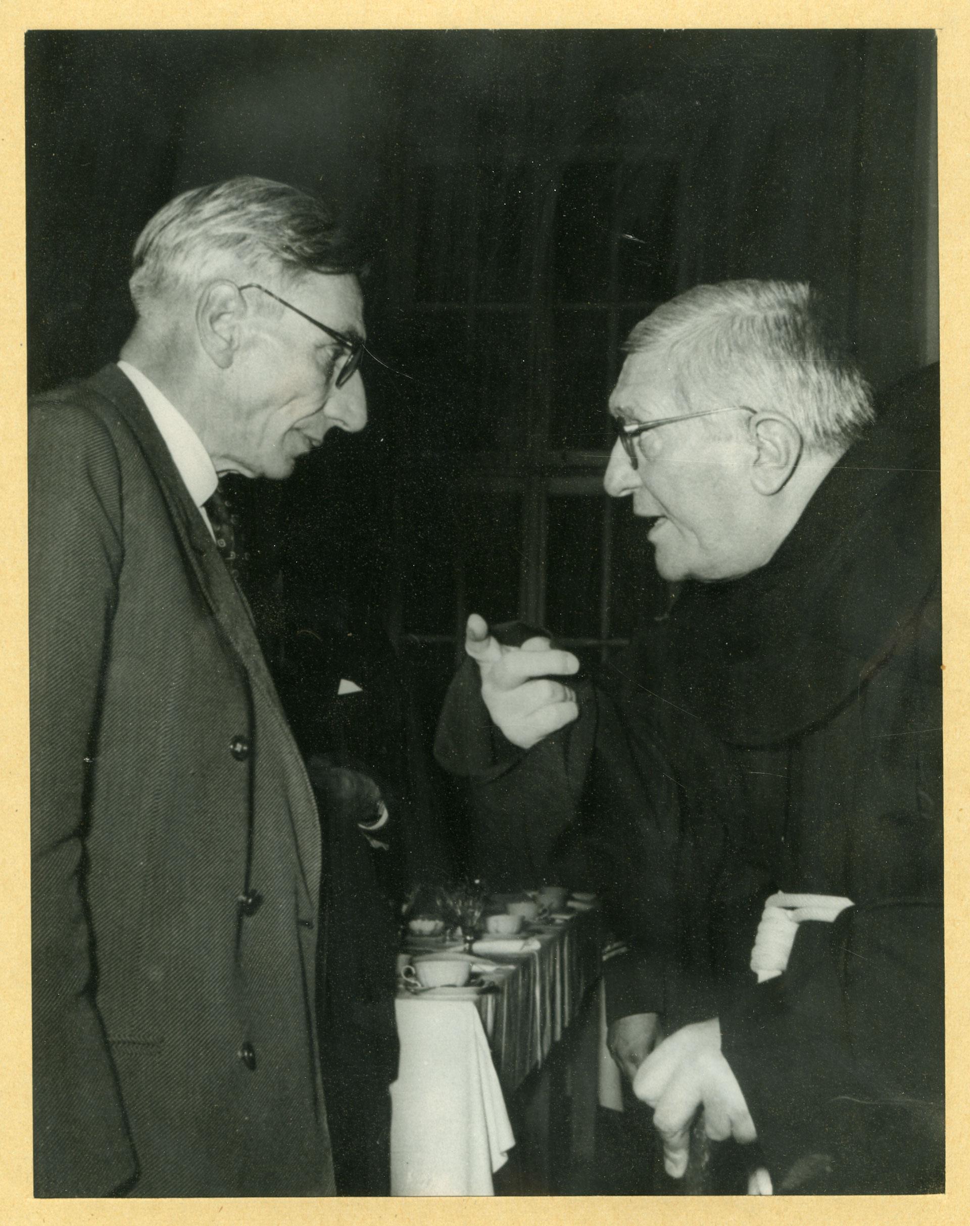 Agostino Gemelli e Cesare Musatti in una foto dei primi anni Cinquanta