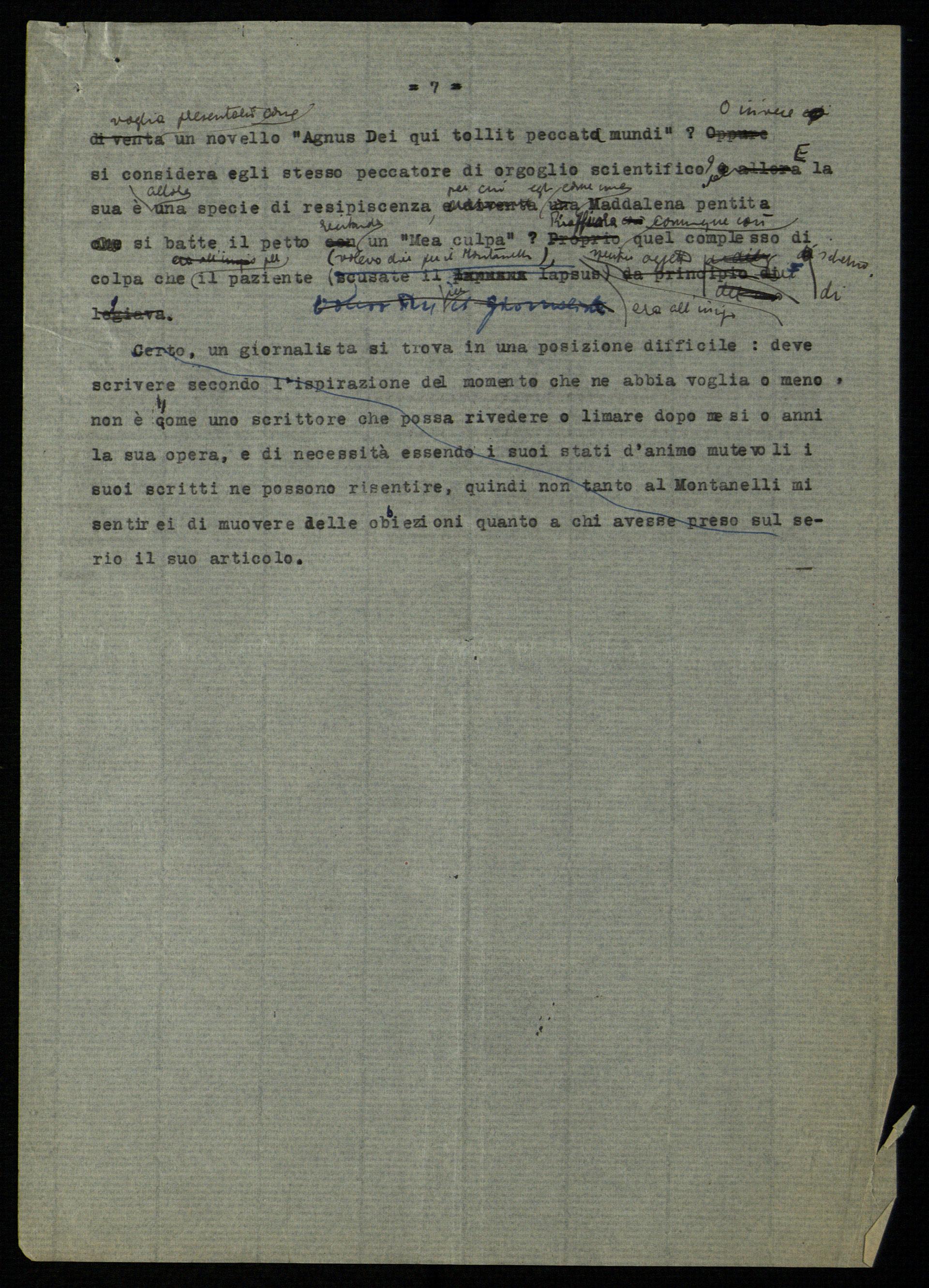 Cesare Musatti, Il diritto di impazzire (Risposta a Indro Montanelli), post settembre 1949
