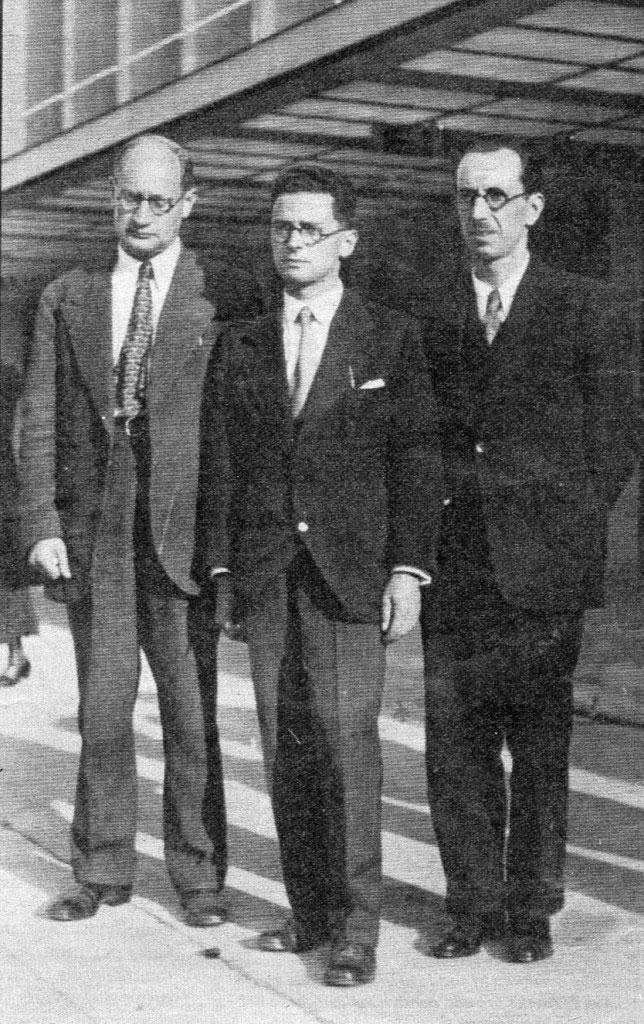 Edoardo Weiss, Emilio Servadio e Nicola Perrotti